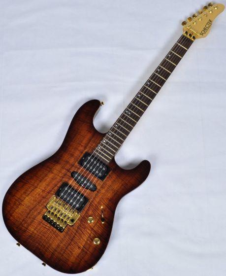 Schecter CET Koa Top USA Custom Shop Electric Guitar in Tobacco Burst Finish