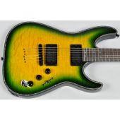 Schecter Hellraiser C-1 Passive Electric Guitar in Dragonburst Finish
