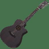 Schecter Orleans Studio-12 Acoustic Guitar in Satin See Thru Black Finish SCHECTER3714