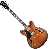 Ibanez Artcore Expressionist AS93L Left-Handed Semi-Hollow Electric Guitar in Violin Sunburst AS93LVLS
