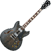 Ibanez Artcore Vintage ASV10A Semi-Hollow Electric Guitar in Transparent Black Low Gloss ASV10ATKL