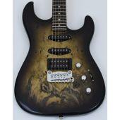 G&L USA Legacy HSS RMC Buckeye Burl Electric Guitar Blackburst USA LGCYRMC-BLKB 9649