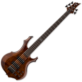 ESP LTD F-155DX Flamed Maple Top 5-String Electric Bass Walnut Brown LF155DXWBR