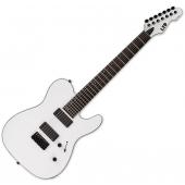 ESP LTD TE-417 7-String Electric Guitar Snow White Satin LTE417SWS
