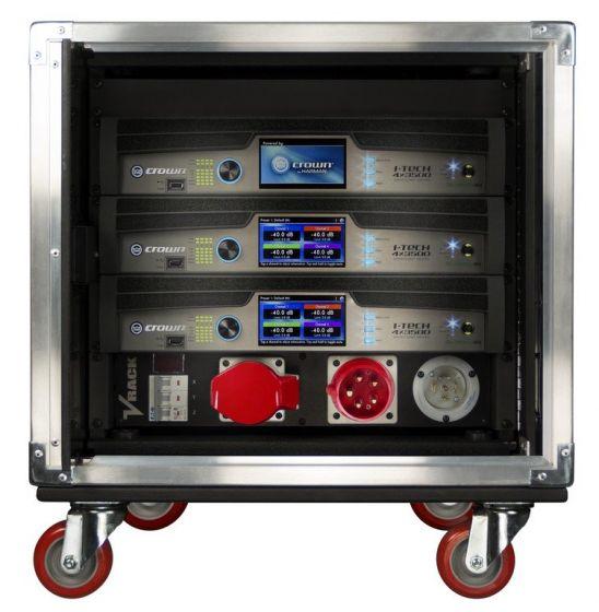 Crown Audio Vrack 4x3500HD Loaded Amplifier Rack