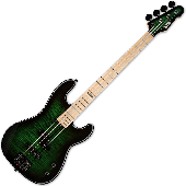 ESP LTD MM-4FM Marco Mendoza Electric Bass See Thru Green Sunburst B-Stock LMM4FMDSTGSB.B