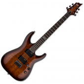 ESP LTD H-101FM Flamed Maple Top Electric Guitar Dark Brown Sunburst B-Stock LH101FMDBSB.B