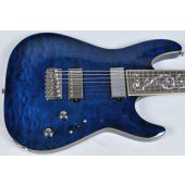 Schecter C-7 Classic Prototype Electric Guitar See-Thru Blue