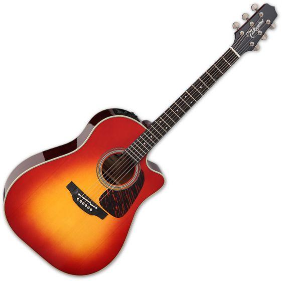 Takamine CP6SSDC Dreadnought Acoustic Guitar Gloss Cherry Sunburst