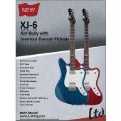 ESP LTD XJ-6 See Thru Blue Electric Guitar