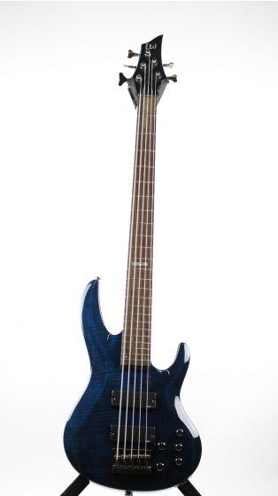 ESP LTD B-155DX See Thru Blue Sample/Prototype Bass Guitar