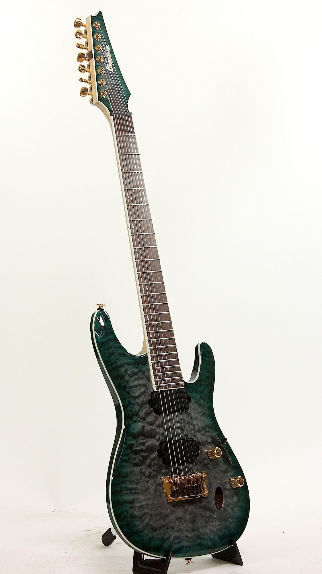 Ibanez S5527qfx Dgd Dark Green Doom Burst 7 String Electric Guitar