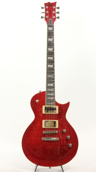 ESP LTD EC-1000 RSP Red Sparkle Electric Guitar Throwback