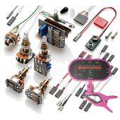 EMG 3 Pickup Conversion Wiring Kit PPP Push / Pull - Long Shaft w/ Free Guitar Tuner 3337.00