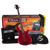 Dean Edge 09 Bass Guitar Pack MRD w/Amp E09 MRD PK E09 MRD PK