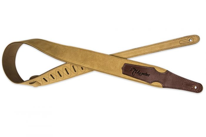 Takamine Tan Suede Guitar Strap