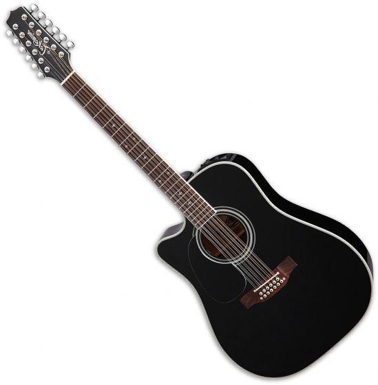 takamine ef381sc left hand 12 string acoustic guitar in black 6. Black Bedroom Furniture Sets. Home Design Ideas