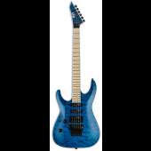 ESP LTD MH-203QM Left Handed See Thru Blue Electric Guitar LMH203QMSTBLH