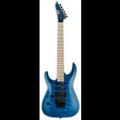 ESP LTD MH-203QM Left Handed See Thru Blue Electric Guitar LMH203QMSTBLH
