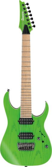 Ibanez RGR5227MFX TFG RG Prestige 7 String Transparent Fluorescent Green Electric Guitar