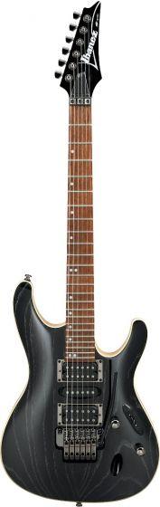 Ibanez S570AH SWK S Standard 6 String Silver Wave Black Electric Guitar