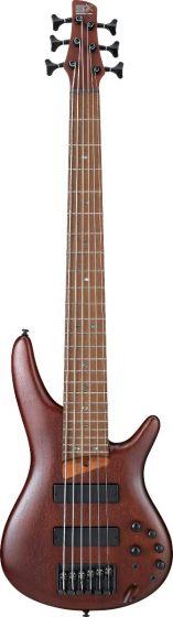 Ibanez SR Standard SR506E 6 String Brown Mahogany Bass Guitar