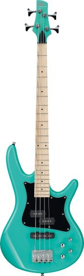 "Ibanez SR Mezzo SRMD200K 4 String 32"" Medium Scale Aqua Green Bass Guitar"