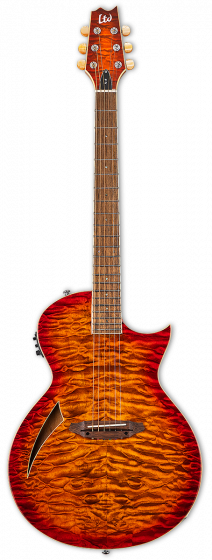 ESP LTD TL-6 Thinline Tiger Eye Burst Electric Guitar