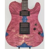 Schecter PT Masterwork Custom Guitar with Buckeye Burl Stabilized top MW PT RED STABILIZED