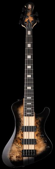 ESP LTD STREAM-1005 Black Natural Burst 5 String Bass Guitar